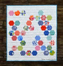 "Make an Easy Baby Quilt with Hexagons and Equilateral Triangles ... & For the hexagons, I found this cute charm pack of ""Beach House"" by Kate  Nelligan for Moda. I have had it since the spring. And now that summer's  over, ... Adamdwight.com"