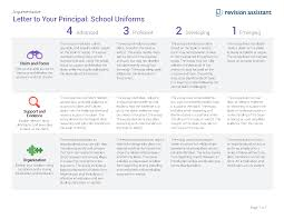 letter to your principal school uniforms guides turnitin com rubric