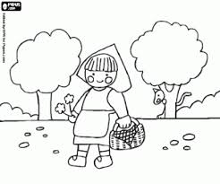 Little Red Riding Hood Coloring Pages Printable Games