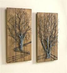wooden metal wall art