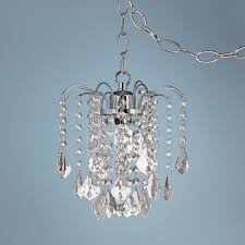dining room amazing plug in chandelier crystal and acrylic swag intended for awesome house plug in swag chandelier prepare