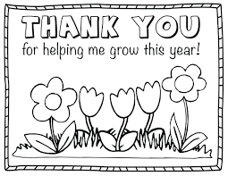 Printable Thank You Cards For Teachers Thank You Cards Coloring Pages Allurepaper Co
