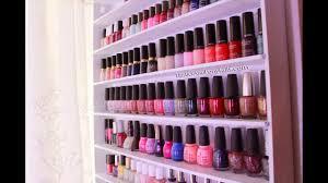 diy wood nail polish rack