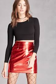 red leather mini skirts forever 21 kii faux leather skirt