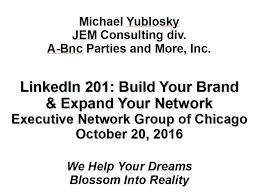condensed presentation slideshows and handouts jem consulting executive networking group li201 10 20 16