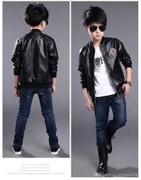 teenage boys er pu leather jacket brand kids leather jacket big boys outerwear children casual clothing children pu leather jacket boys kids jackets for