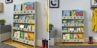 bookcase for children popular kids grey wooden child storage shelving unit home organiser pertaining to 5