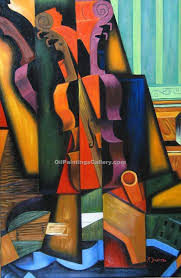 violin and guitar by juan gris