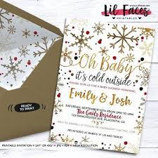 Baby Its Cold Outside Shower Invitation Winter Wonderland Couple