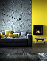small fireplace wall before mustard