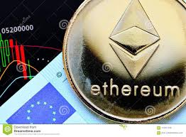 Crypto Currency Ethereum Stock Image Image Of Black 112571745