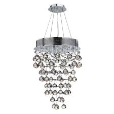 worldwide lighting icicle collection 7 light polished chrome and clear crystal chandelier
