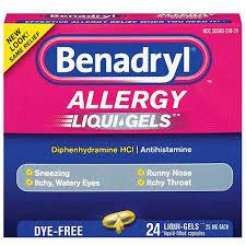 Benadryl Dye-Free Allergy Liqui-Gels, 24 Capsules
