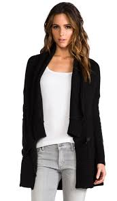 maretta buckle cardigan with leather sleeves maretta buckle cardigan with leather sleeves dakota collective