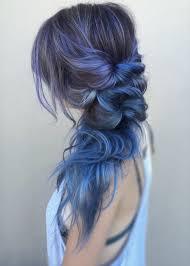 Hair Dye Dip Dyed Blue Ombre