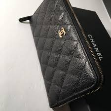 chanel wallet. auth chanel classic zipped around long wallet