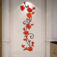 3d wall decor special offer modern multi color still life exquisite flowers wall sticker waterproof for