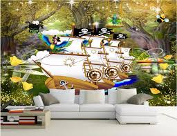 3d room wallpaper landscape custom mural jungle river pirate ship decoration painting 3d wall murals wallpaper for walls 3 d in wallpapers from home