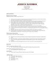 Sample Pta Resume Vitadance Me