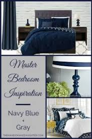 Great Iu0027m Dreaming Of A Master Bedroom In Soothing Shades Of Navy Blue And Gray