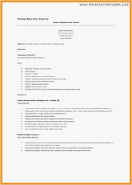 Recruiter Resumes Free Templates Sample Recruiter Resume Best