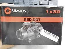 simmons red dot scope. brand new - simmons red dot 1 x 30 model 511304 scope r