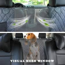 waterproof dog car seat cover view mesh