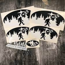 This Listing Is For A Set Of Emblem Overlay Decals With Bigfoot And Trees With Subaru Starsthe Set Comes With 2 Fron Subaru Subaru Crosstrek Subaru Accessories