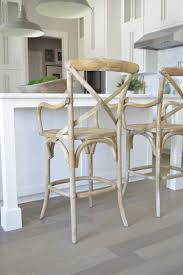 x back wooden bar stool white kitchen grey hardwood floors rh pendants
