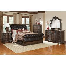 Queen Furniture Bedroom Set Bedroom Sets Queen Amazoncom 4pc Cappuccino Finish Queen Size