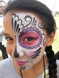 skull face paint makeup design dia de los muertos face paint mask