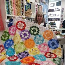 Quilting on the Crescent: Fabric in the Crescent: Mes Amis Quilt Shop & Denise loves sharing pictures of new fabrics that have arrived at the shop,  as well as pictures of customers and their quilts. Adamdwight.com