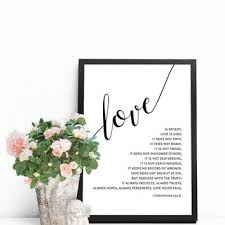 bible verse prints scripture art prints christian wall art lo on bible verses about love wall art with best love is patient love is kind art products on wanelo