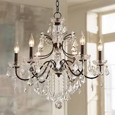 bronze and crystal chandelier. Beverly 26\ Bronze And Crystal Chandelier I