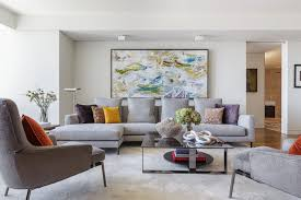 Artwork Is An Integral Part Of Any Living Room And When Styling A Grey Sofa Make Sure That Your Accesories Reference The Colors In Artwork