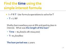 loan formulas simple interest loan formula military bralicious co