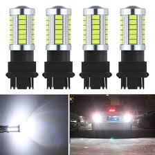 3156 Led Backup Light Bulbs Shangyuan 4pcs 3157 3056 3156 3057 Led Reverse Lights Bulb 1000 Lumens Extremely Bright 5630 33 Smd Led Bulb With Projector Lens For Car Led Backup