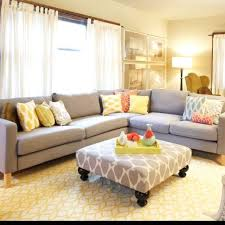 Neutral furniture Boho Neutral Furniture Pops Of Color Bold Print On The Ottoman Wayfair Sneak Peek Charity Damato Home For Two Pinterest Living Room