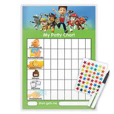 Potty Training Sticker Chart Printable Boys Paw Patrol Kids Loo Toilet Potty Training Reward Chart Ebay