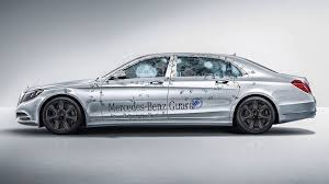 Armored Mercedes Maybach S600 Guard ballistic protection to VR10 level