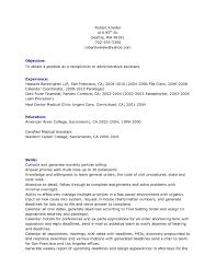 Sample Resume Objectives Medical Receptionist Save Resume Sample