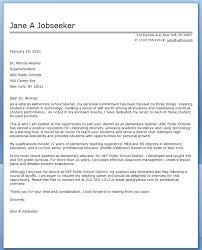 Teaching Cover Letter Middle School Primeliber Com