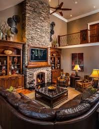 rustic living room furniture ideas. 19 stunning rustic living rooms with charming stone fireplace room furniture ideas