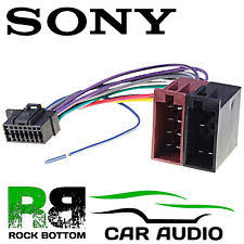 sony cdx gt in vehicle parts accessories sony cdx gt474um car radio stereo 16 pin wiring harness loom iso lead adaptor