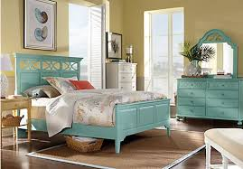 beachy bedroom furniture. picture of cindy crawford home seaside bluegreen panel 5 pc king bedroom from beachy furniture