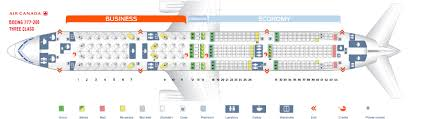 Seat Map Boeing 777 200 Air Canada Best Seats In Plane