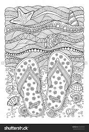 Coloring Book For Adult Sea Beach