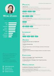 Resume of A Web Front-End Engineer on Behance
