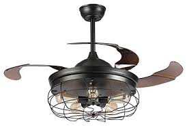 parrot uncle industrial ceiling fans with lights 32 vintage edison bulb chandelier fan with