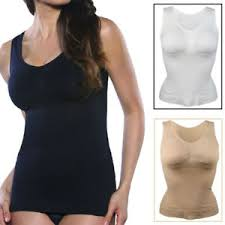Details About Women Body Shaper Genie Camisole Shapewear Tank Top Slimming Bra Dint Cami Vest